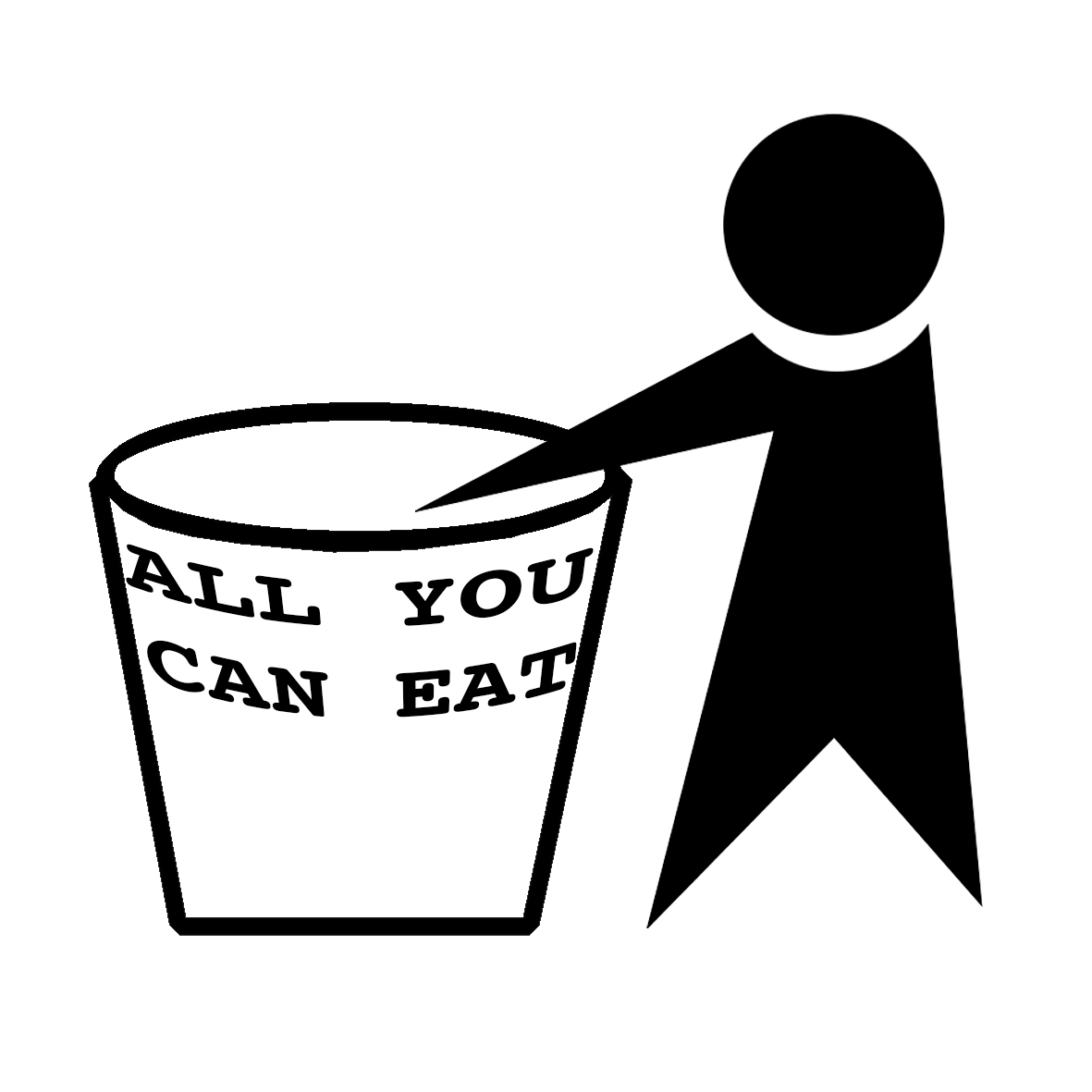 ALL YOU CAN EAT STICKER